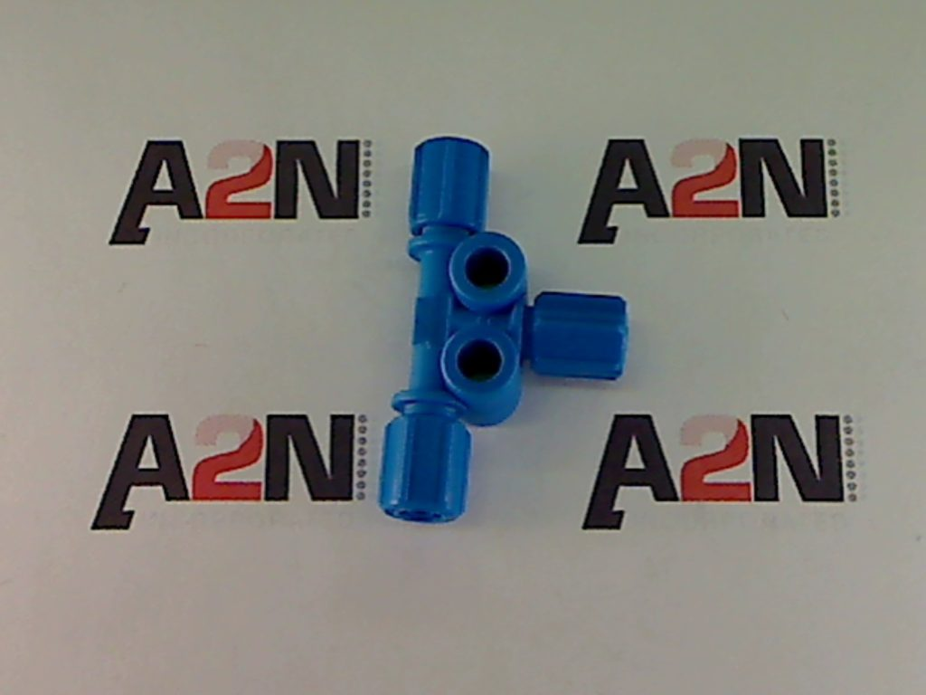 A blue male connector