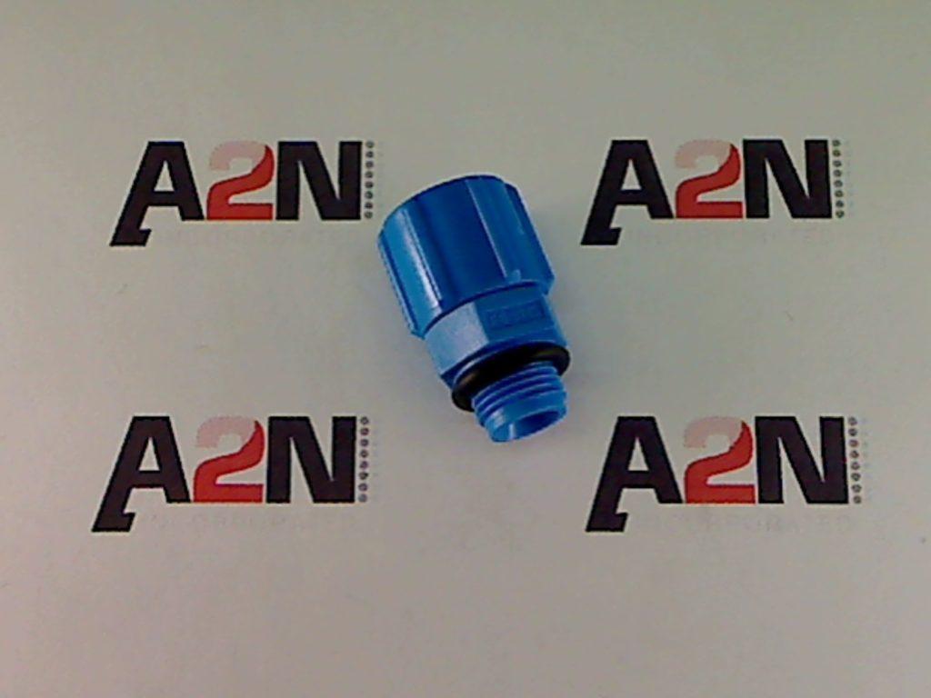 A blue Tee connector