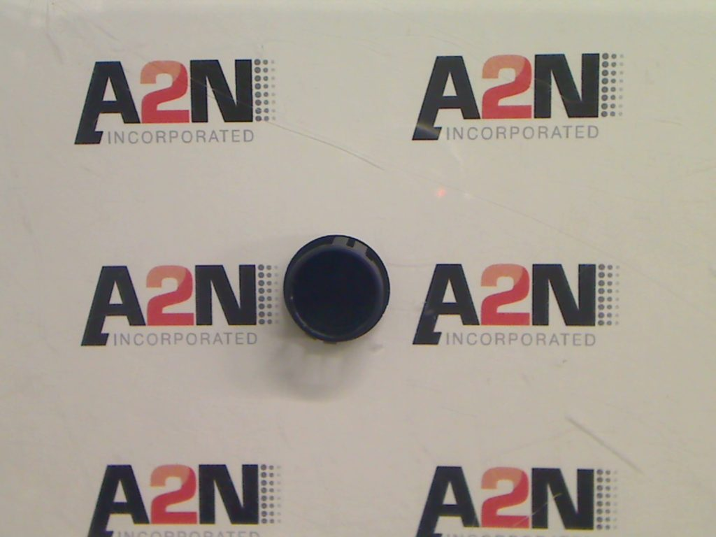 A top view of the rigid plastic locking plug